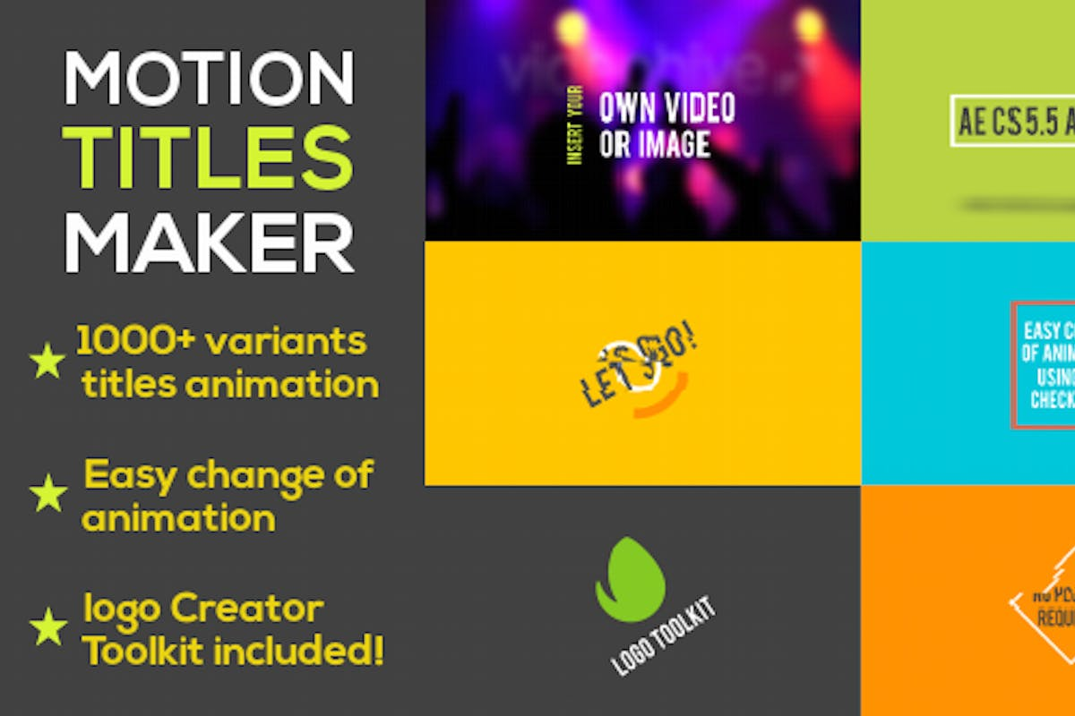 Motion Titles Maker by Space-Dog on Envato Elements