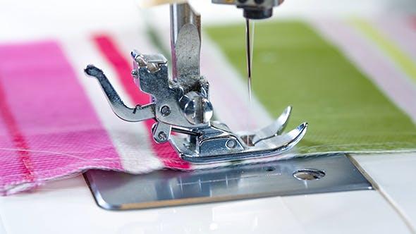 Sewing Machine Showing Process