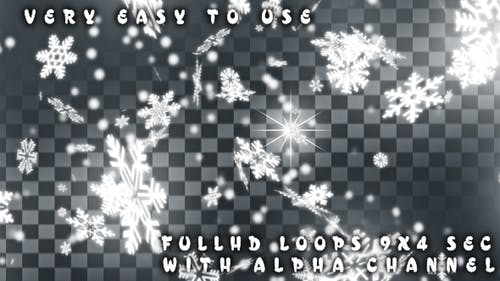 Snowflakes Alpha Transitions