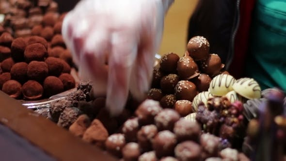 Thumbnail for Christmas Chocolates On The Counter Of The New