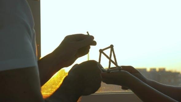 Assembling Magnetic Construction Set