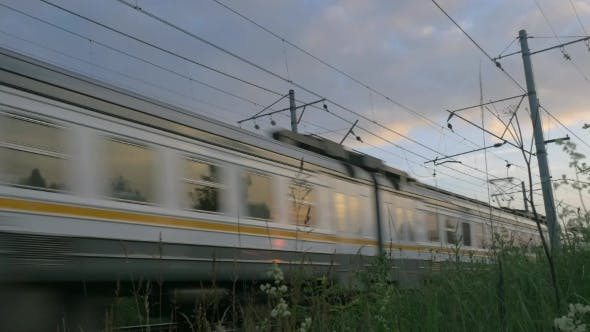 Thumbnail for Commuter Train In Motion