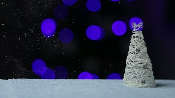 Thumbnail for Christmass Tree In The Snow Night