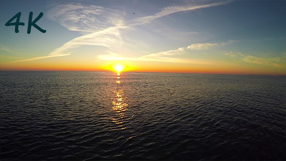 Thumbnail for Aerial Sunrise on The Sea