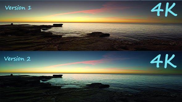 Thumbnail for Aerial Sunrise Of Mediterranean Sea (2 version)