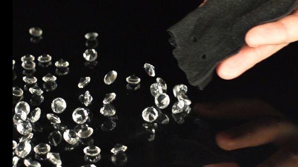 Human Hand Falls Out A Lot Of A Diamonds