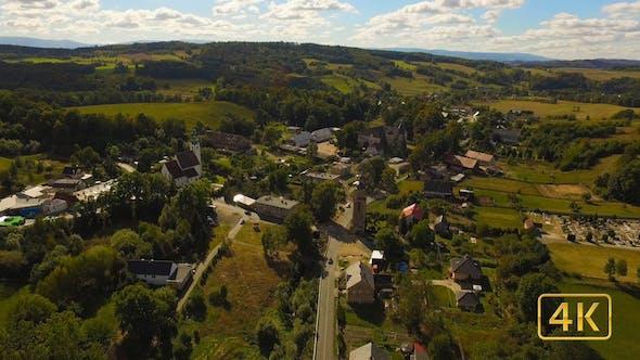Thumbnail for Aerial Over European Village