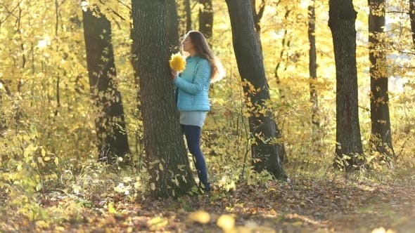 Thumbnail for Girl Hiding Behind a Tree