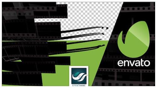 Film Stripe Logo Transition