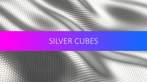 Thumbnail for Shiny Silver Cubes Background