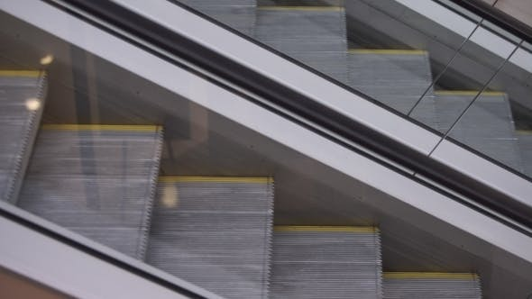 Thumbnail for Movement Up And Down The Escalator.