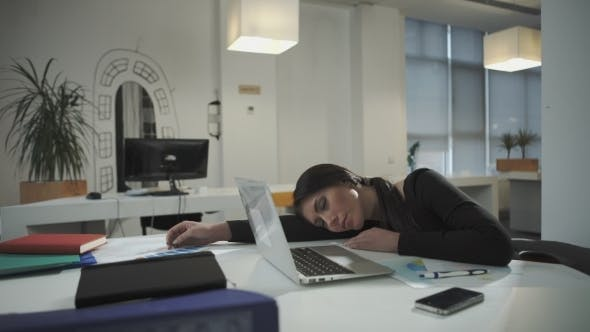 Thumbnail for Woman Sleeping On The Job, It Will Be a Phone Call