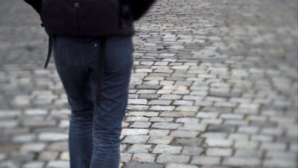 Thumbnail for Man Goes Forward On a Stone Slab