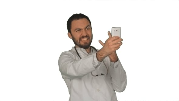 Thumbnail for Doctor Or Medic Taking a Selfie With Front Camera