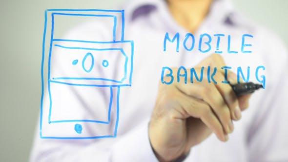 Thumbnail for Mobile Banking, Concept Illustration