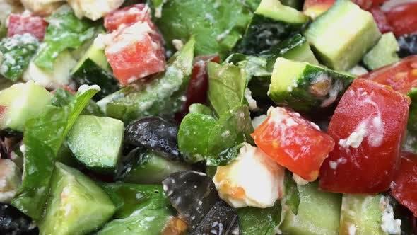 Thumbnail for Rotating Greek Vegetable Salad