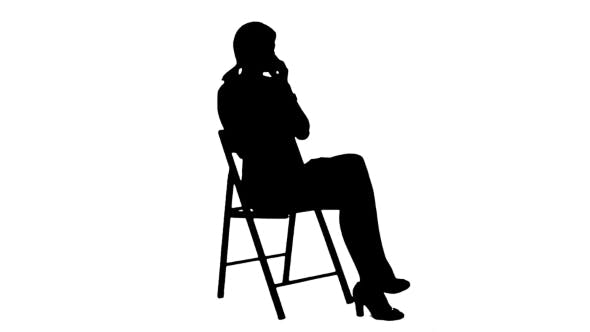 Thumbnail for Silhouette Young Business Woman Using Telephone