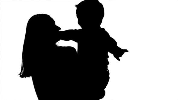 Thumbnail for Silhouette Happy Family Having Fun