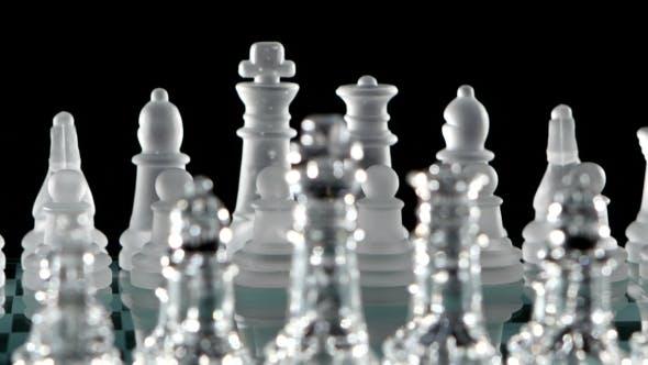 Thumbnail for Transparent, Matt-white Chess Figures On Unusual