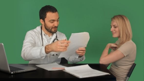 Thumbnail for Doctor Patient History Database Of Young Woman On