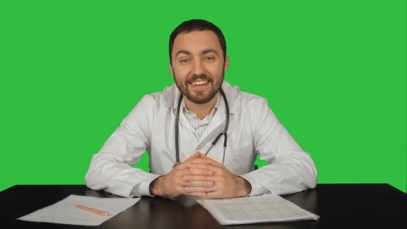 Thumbnail for Cheerful Smiling Doctor With Good News Looking At