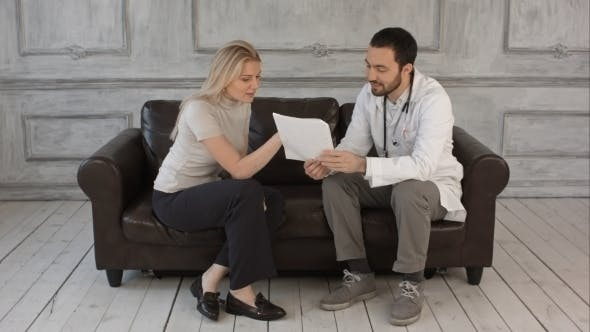 Thumbnail for Doctor Explaining Diagnosis To His Female Patient