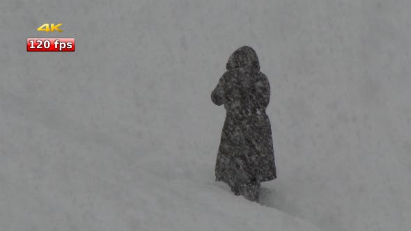 Thumbnail for People Walking in the Storm