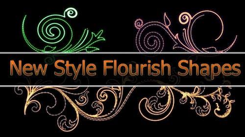 New Style Flourish Animated Shapes