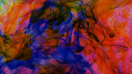 Thumbnail for Yellow And Red Ink In Water