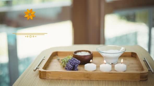 Peaceful video of spa essentials