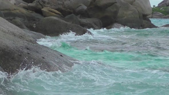 Thumbnail for Turquoise Rolling Wave, Slow Motion