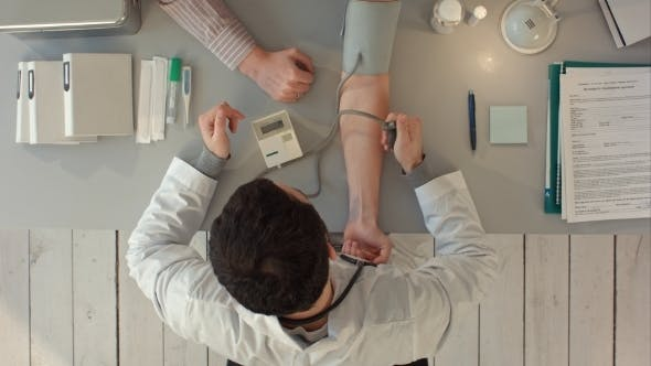 Thumbnail for Doctor Measuring Blood Pressure Of a Patient.