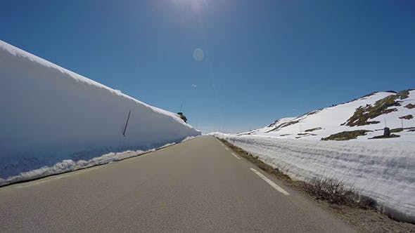 Thumbnail for Driving Car On A Snow Road