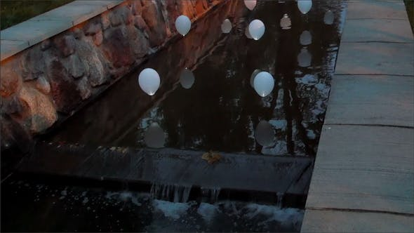 Lighted Balloon in the Small Canal
