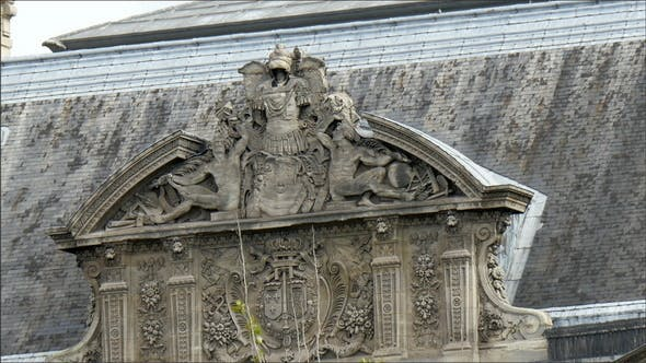Thumbnail for An Old Style Building with Carvings