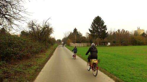 Ridin Bike in the Field in Nature