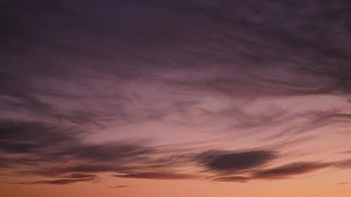 Crimson Sky During Sunset