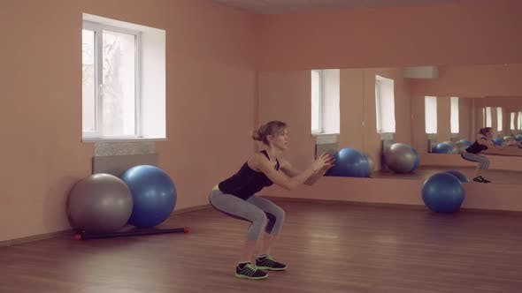 Thumbnail for Sportswoman Intense Physical Exercise Strengthening Legs