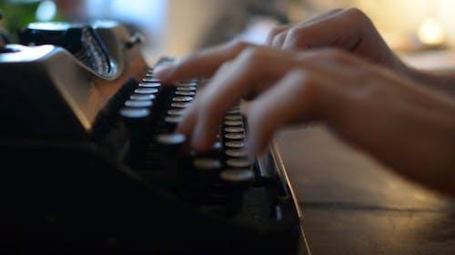 Typing on Type Writer