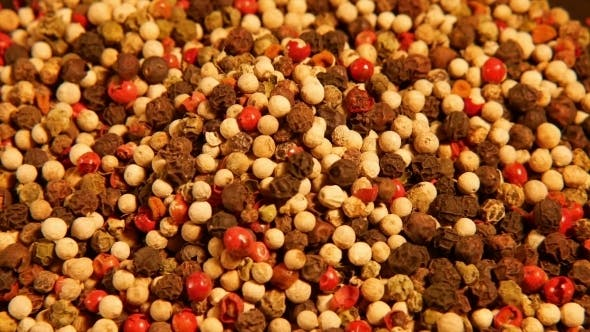 Thumbnail for Mix Of Spices: Red Black White Green Hot Pepper