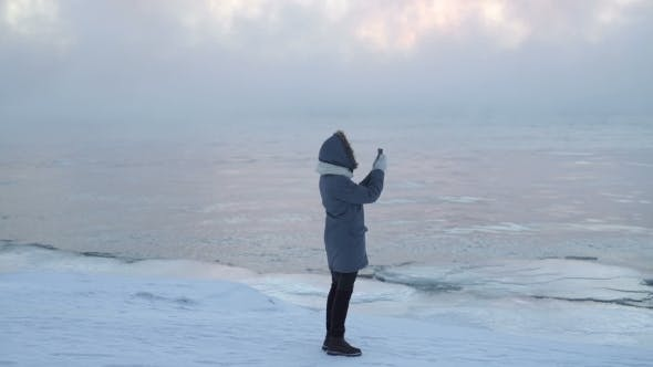 Thumbnail for Man Take Photo On The Ice