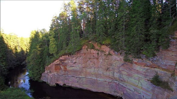The Sandstone on the Side of the Mountain