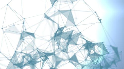 Cyan Blue Plexus Background