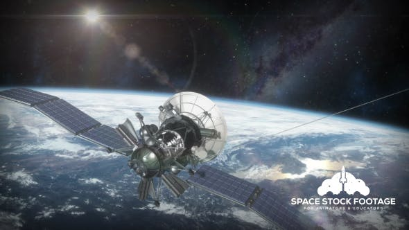 Thumbnail for Earth Orbit with Satellite