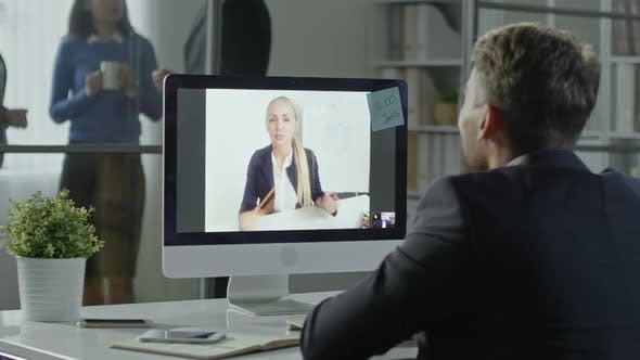 Thumbnail for Business Meeting on a Computer