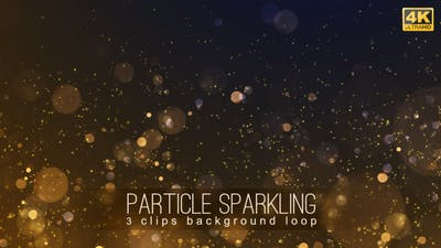 Particle Sparkling Backgrounds