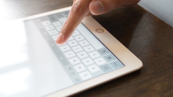 Cover Image for Typing  on Touch Screen of Tablet
