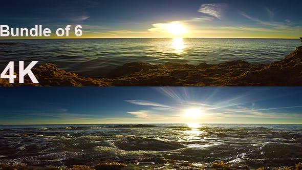 Thumbnail for Beautiful Sunshine on Mediterranean Sea (6 clips)