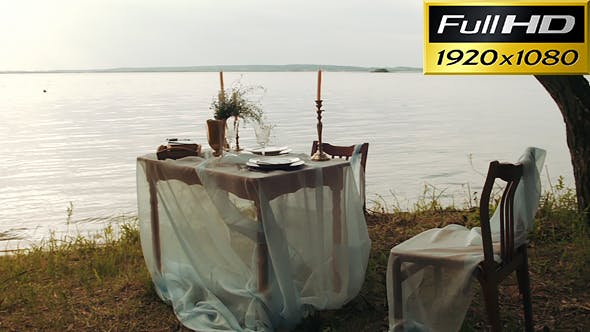 Thumbnail for Decorating Romantic Place For Couple Dating Near The Water