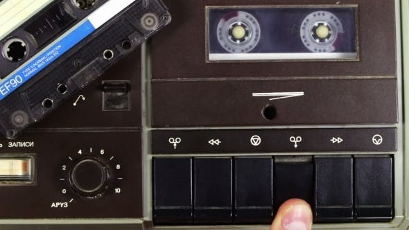Thumbnail for Tape Recorder Playing With Silver Cassette